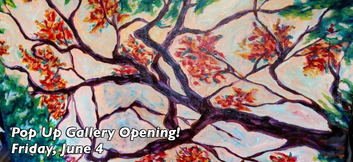 Pop Up Gallery Opening this Friday, June 4th from 5pm to 7pm featuring art by Kelly Gearwar!