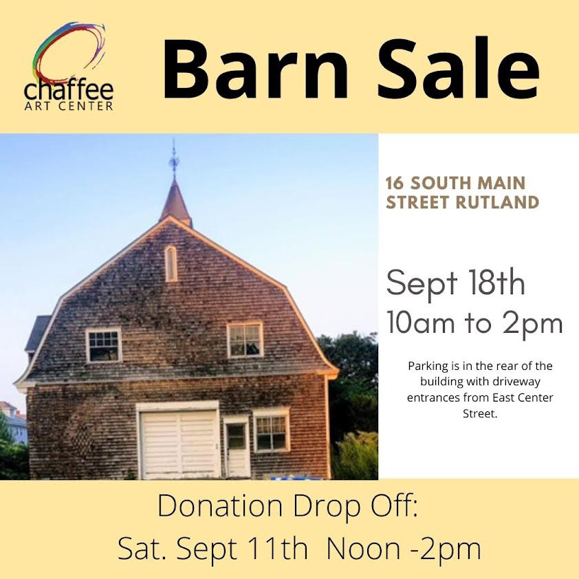Chaffee Barn Sale, Sat. Sept. 18!